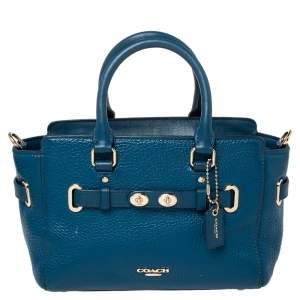 Coach Blue Leather Swagger 20 Satchel