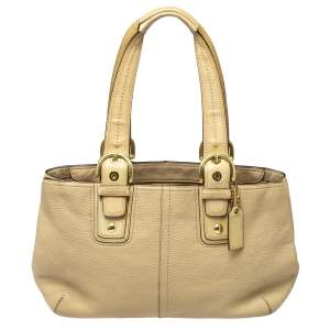 Coach Cream Leather Soho Tote