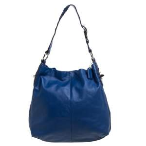 Coach Blue Leather Hobo