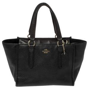 Coach Black Textured Leather Crosby Tote