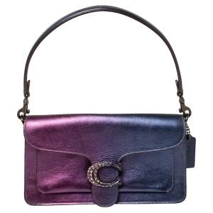 Coach Metallic Blue/Purple Ombre Leather Tabby Shoulder Bag