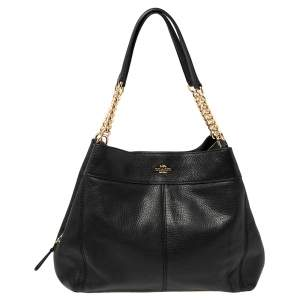 Coach Black Leather Lexy Shoulder Bag