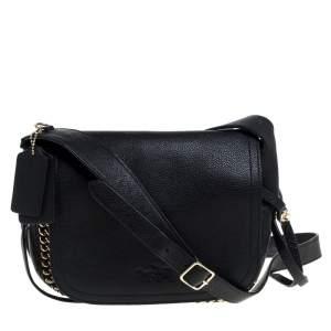 Coach Black Leather Whipstitch Dakota Crossbody Bag