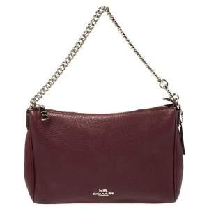 Coach Burgundy Leather Carrie Crossbody Bag