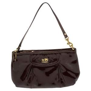 Coach Brown Patent Leather Madison Clutch
