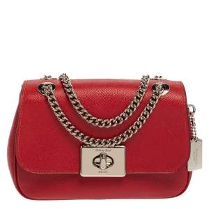 Coach Red Leather Mini Cassidy Shoulder Bag