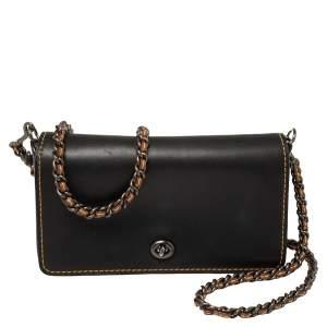 Coach Black Leather Dinky Crossbody Bag