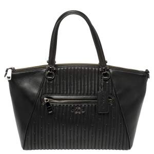 Coach Black Leather Prairie Satchel