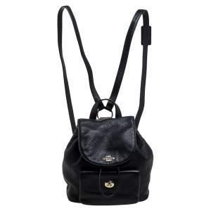 Coach Black Leather Mini Billie Backpack