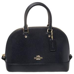 Coach Midnight Blue Leather Mini Sierra Satchel