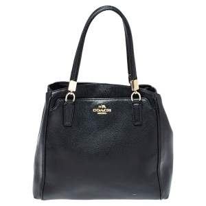 Coach Black Leather Minetta Satchel
