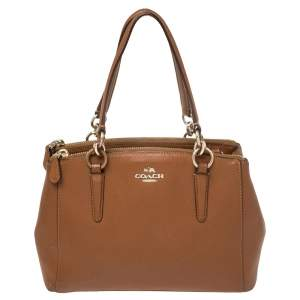 Coach Brown Leather Mini Christie Carryall Satchel