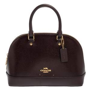 Coach Plum Patent and Leather Mini Sierra Satchel