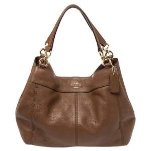Coach Brown Leather Small Lexy Tote