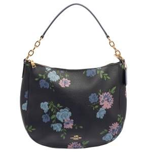 Coach Multicolor Floral Print Coated Canvas Elle Hobo