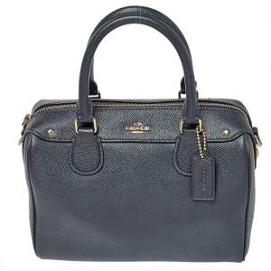 Coach Navy Blue Leather Mini Bennett Satchel