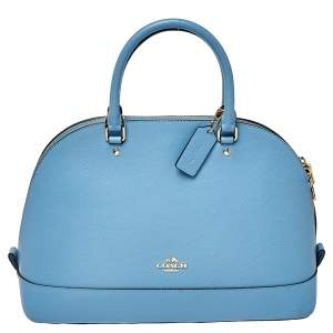 Coach Blue Leather Sierra Satchel