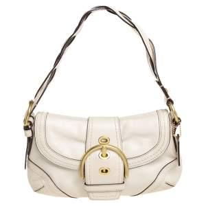 Coach White Leather Soho Baguette Bag