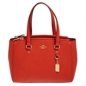 Coach Burnt Orange Leather Mini Christie Carryall Satchel