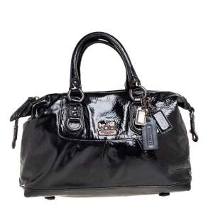 Coach Black Patent Leather Poppy Satchel