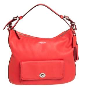 Coach Red Leather Legacy Courtenay Hobo