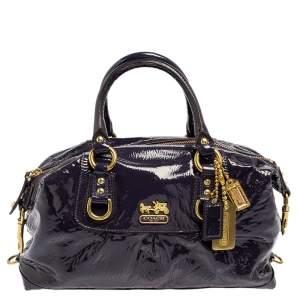 Coach Purple Patent Leather Madison Sabrina Satchel
