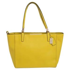 Coach Yellow Saffiano Leather Madison East West Tote