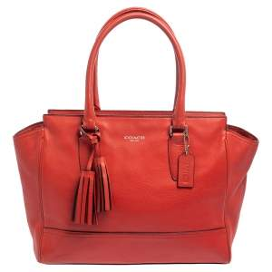 Coach Red Leather Candace Caryall Tote