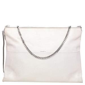 Coach Metallic Cream Leather High Rise Shoulder Bag