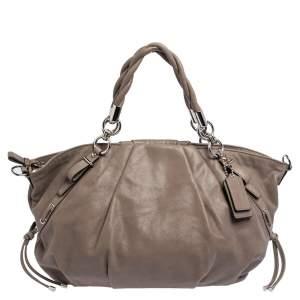 Coach Grey Iridescent Leather Sophia Madison Satchel