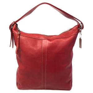 Coach Red Leather Hobo