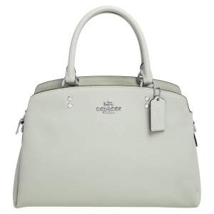 Coach Mint Green Leather Lillie Carryall Satchel