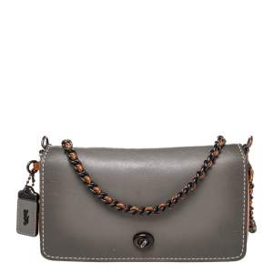 Coach Multicolor Leather Dinky Crossbody Bag