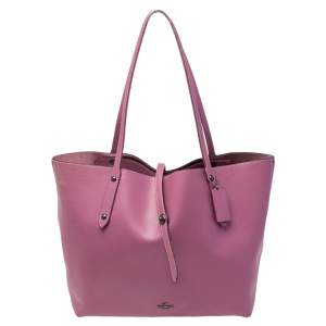 Coach Pink Pebbled Leather Market Shopper Tote