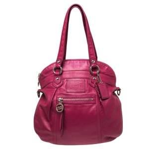Coach Pink Leather Poppy Shoulder Bag