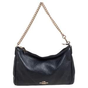 Coach Black Leather Zip Crossbody Bag