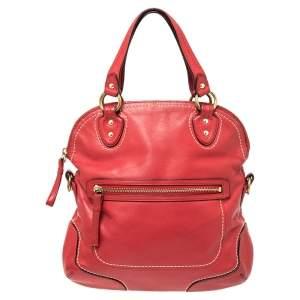 حقيبة ساتشل كوتش بوبي جلد أحمر