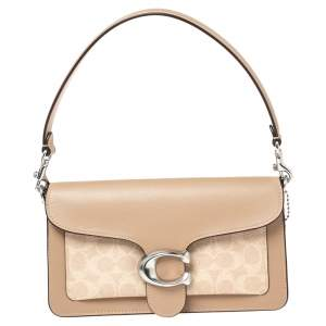Coach Beige Signature Coated Canvas and Leather Tabby 26 Shoulder Bag