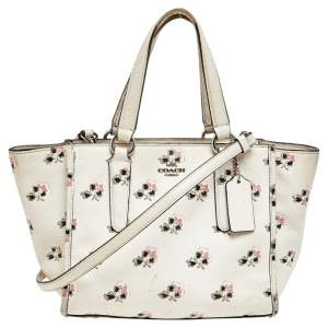 Coach Cream Floral Printed Leather Crosby Tote