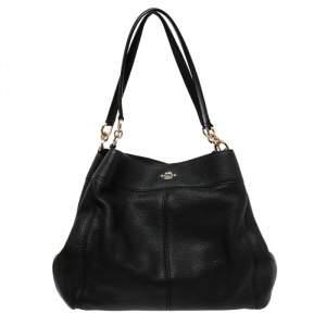 Coach Black Leather Phoebe Madison Shoulder Bag