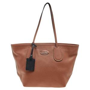 Coach Brown Leather Taxi Top Tote