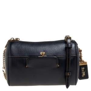 Coach Black Leather Joni Crossbody Bag