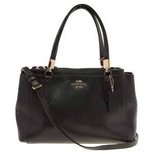 Coach Black Leather Carryall Tote