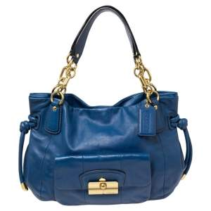 Coach Blue Leather Kristin Shoulder Bag