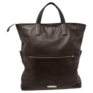 Coach Brown Leather Charles Foldover Tote