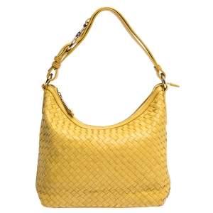 Cole Haan Yellow Leather Heritage Weave Hobo