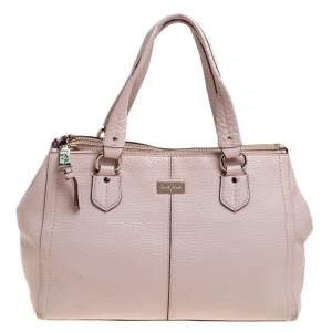 Cole Haan Powder Pink Leather Double Zip Tote