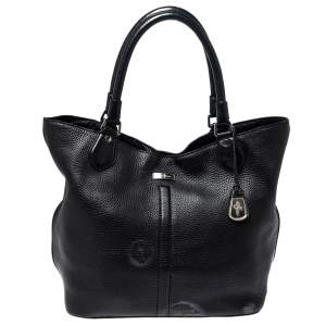 Cole Haan Black Grained Soft Leather Tote