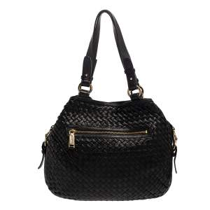 Cole Haan Black Woven Leather Tote