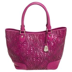 Cole Haan Majenta Woven Leather Tote
